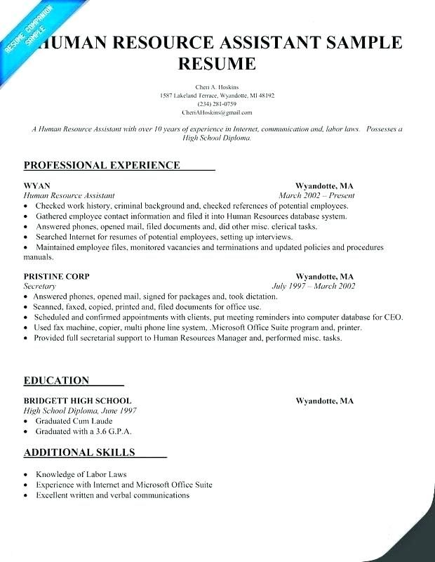 78 New Collection Of Entry Level Resume Samples For Highschool