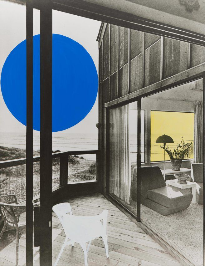 John Baldessari, Blue Moon/Yellow Window/Ghost Chair, 1990