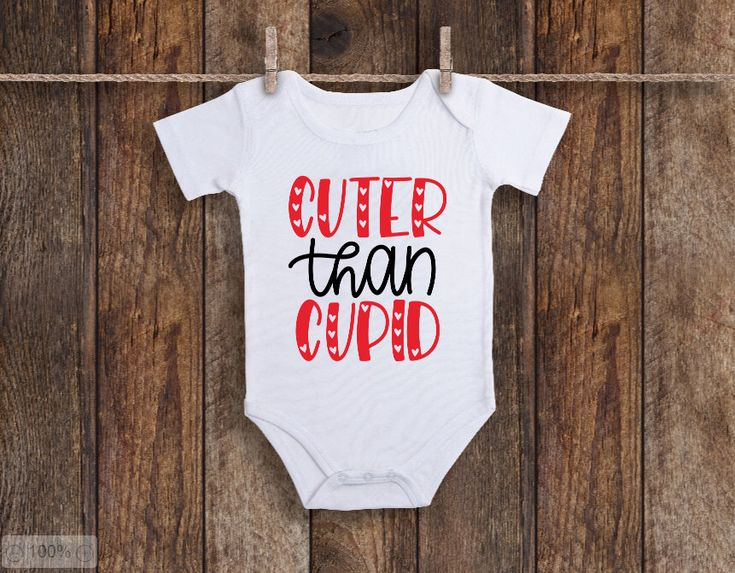 Excited to share the latest addition to my #etsy shop: Valentine's Day Onesie, Valentine's Day Outfit, Valentines Day Onesie, Valentine's Day Onesie for Girl, Cuter Than Cupid #clothing #children #bodysuit #valentinesday #bodysuits #wendyjdesigns #valentineonesie #valentinedayonesie