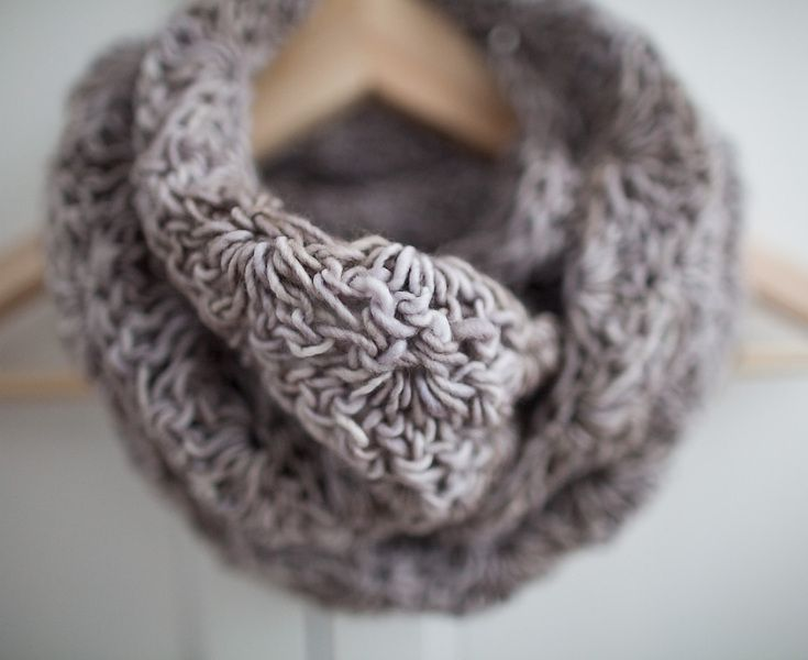 knitted scarf / cowl, merino wool, woolen scarf from Papagayo by DaWanda.com