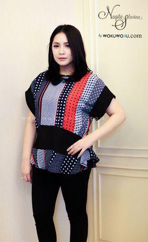 Fashion Nagita Blouse by Nagita Slavina available now on www.wokuwoku.com