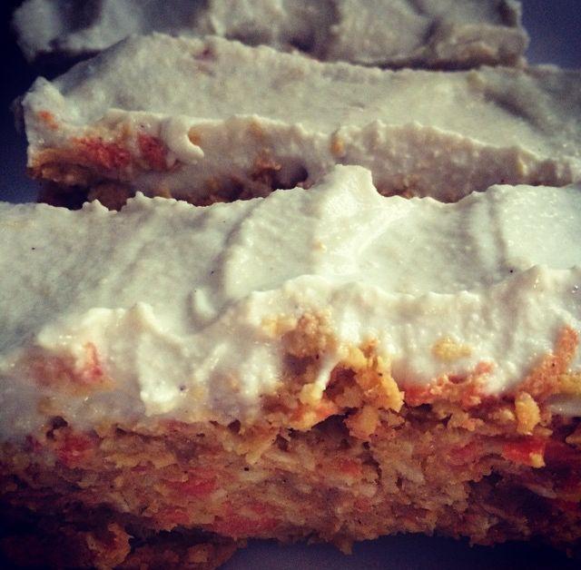 Raw Carrot Cake courtesy of the wonderful Madeleine Shaw