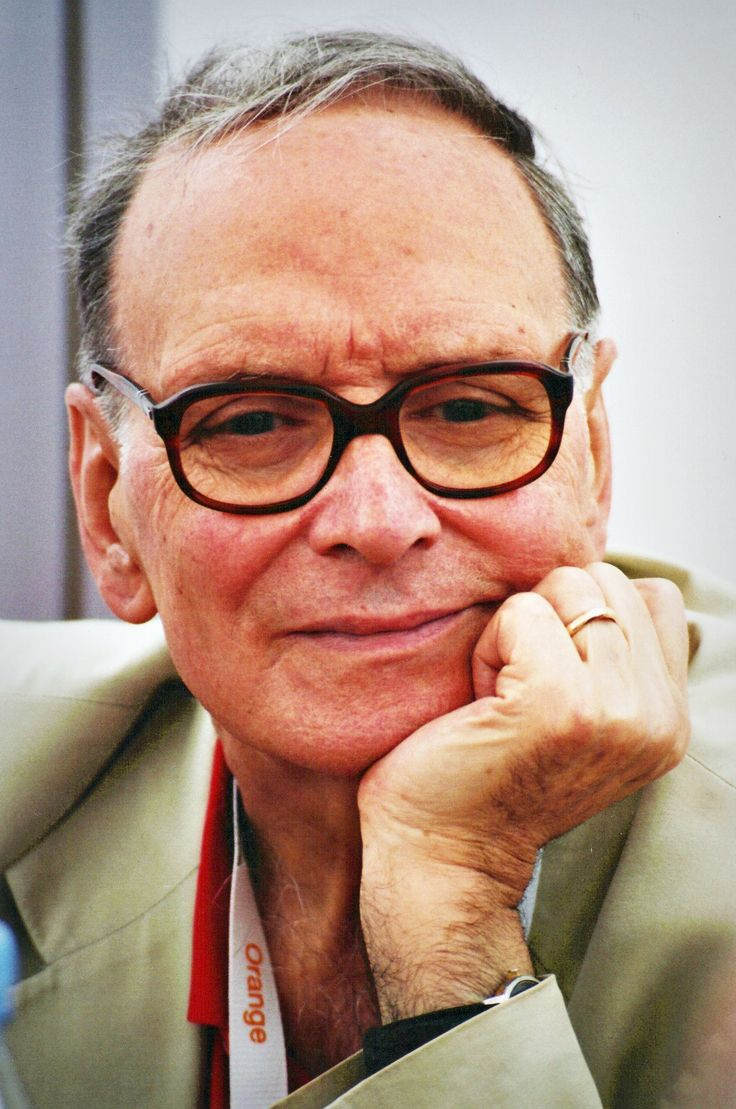 Ennio Morricone [1928, Rome, Italy]  is a composer, conductor and former trumpet player, who has written music for more than 500 motion pictures and television series, as well as classical works.