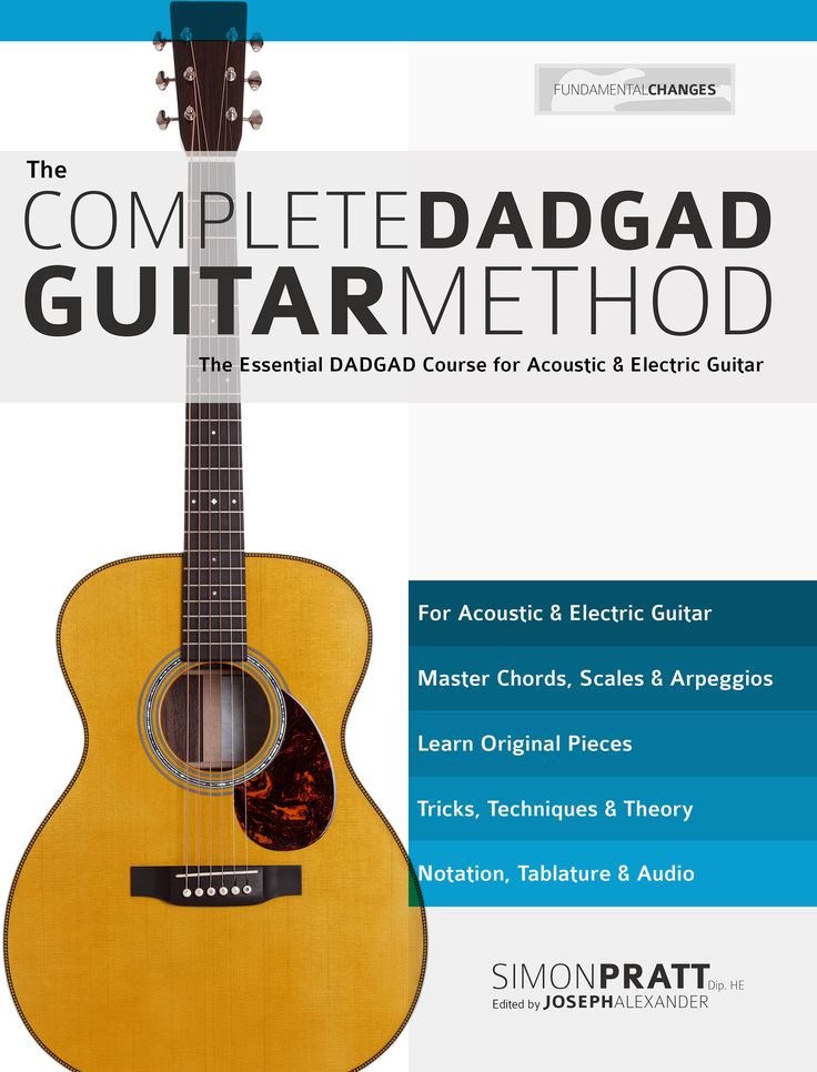 Master DADGAD guitar playing with this comprehensive book by Simon Pratt. Learn chords, scales, music and technique. over 170 notated audio examples