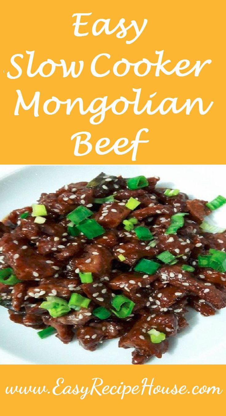 Easy Slow Cooker Mongolian Beef- Easy Dinner Recipe- Easy Slow Cooker Recipe- Simple Crock Pot Meal - Family Favorite