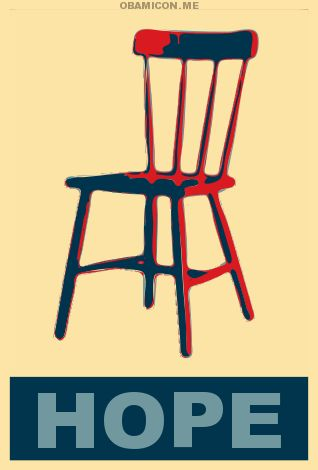 Chair: Mitt Romney, Campaigns Poster, Art Paintings, Funnies Humor, Red Chairs, Empty Chairs, White House, Barack Obama, Clint Eastwood