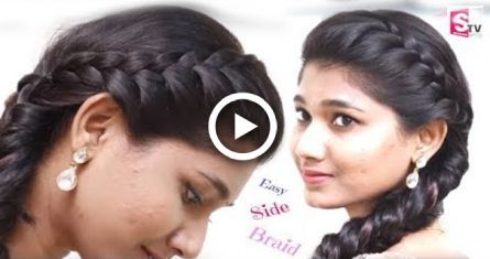 Quotidien simple tressé + coiffure en queue de poisson - YouTube - Pour les filles des collèges. - #braided #college #everyday #fishtail #hairstyle