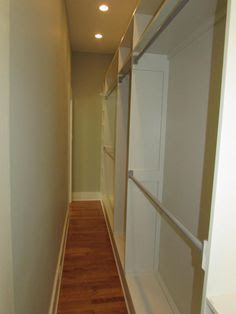 long narrow walk in closet - Google Search                                                                                                                                                                                 More