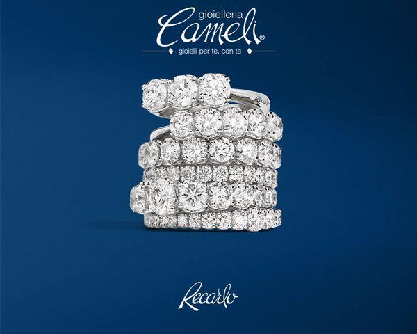 Per te, in ogni momento della nostra vita insieme.  Vieni a scoprire l'intera collezione #ReCarlo da #Cameli  #gioielli #anelli #diamanti #MonteUrano