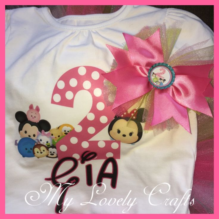 Tsum Tsum shirt ONLY by My1ovelycrafts on Etsy https://www.etsy.com/listing/280597200/tsum-tsum-shirt-only