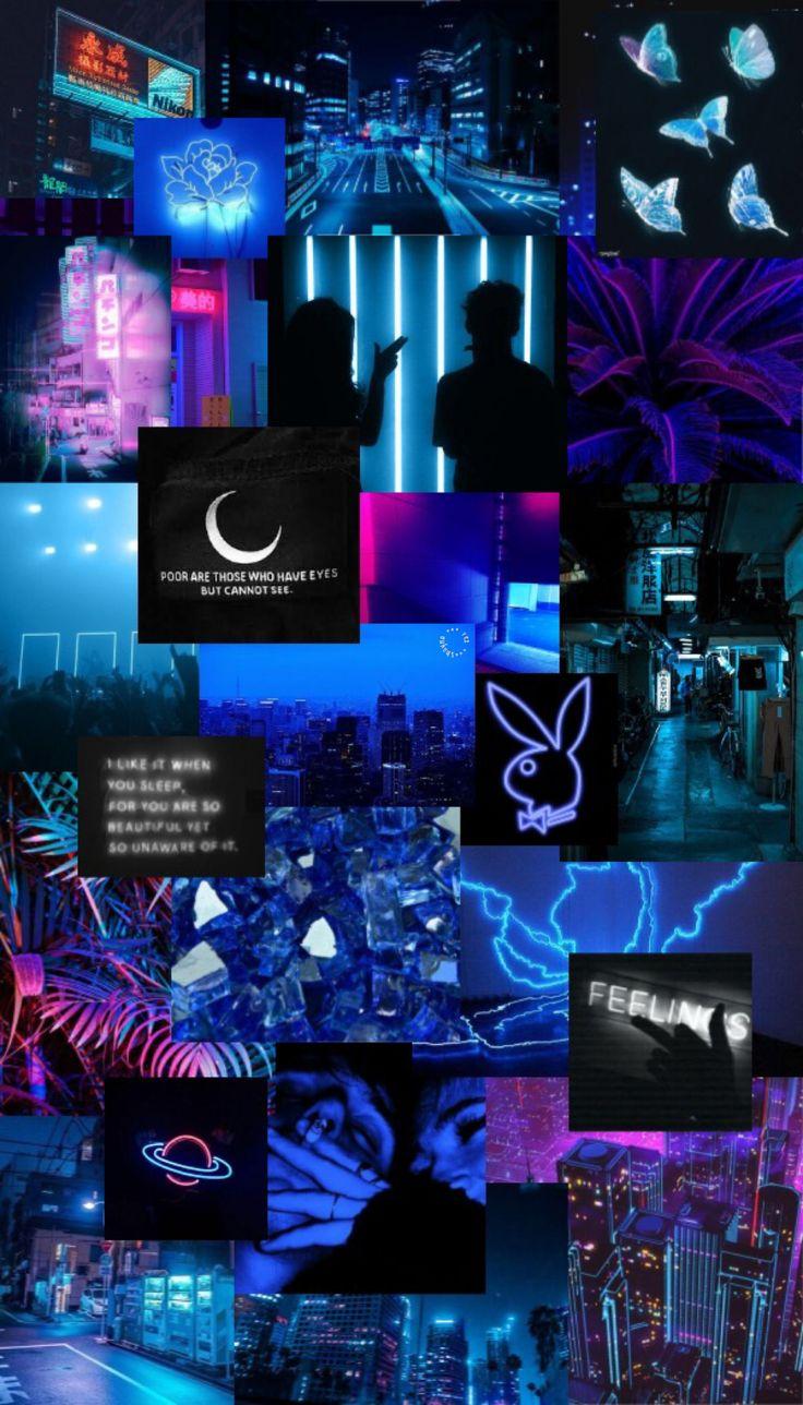 neon blue aesthetic iphone wallpaper in 2020 wallpaper