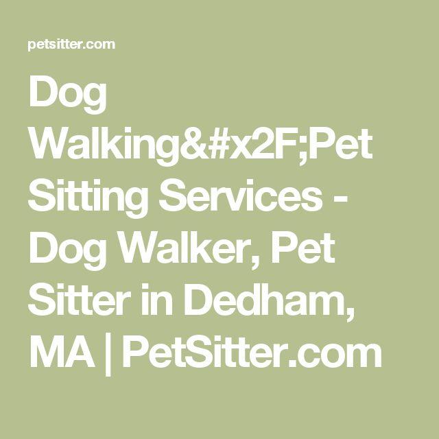 Dog Walking/Pet Sitting Services - Dog Walker, Pet Sitter in Dedham, MA | PetSitter.com