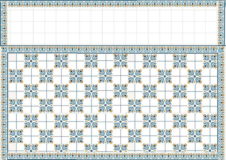 mediteranean blue tile