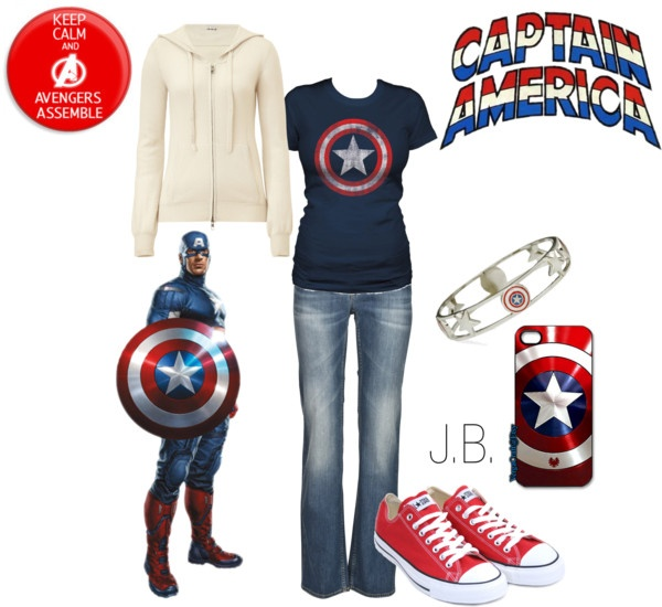 """""""Captin America"""" by chicgeek42 on Polyvore"""