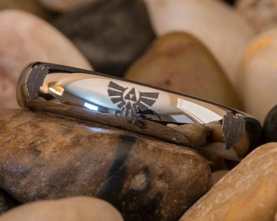 Tungsten zelda ring