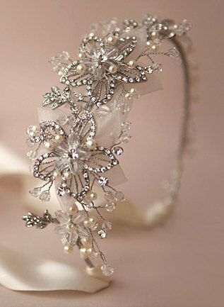 Vintage Gatsby Bridal Crystal headpiece Wired by BewitchingLace, £55.00 Can't wait for this to arrive!