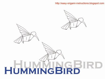 Origami Instructions - Humming Bird | Crafts | Pinterest ... - photo#32