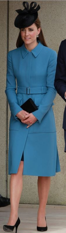 Kate Middleton: Purse – Mulberry Coat – Alexander McQueen Hat – Sylvia Fletcher at D-Day Celebrations in France