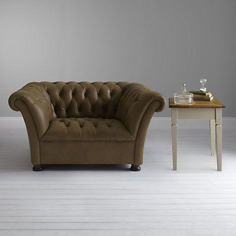 Buy John Lewis Cambridge Leather Snuggler, Jin Brown Online at johnlewis.com