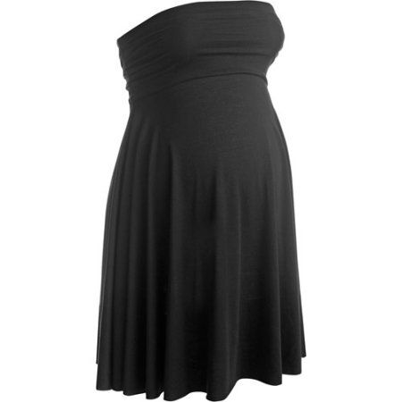 Maternity Swim Cover-up Convertible Dress and Skirt, Black