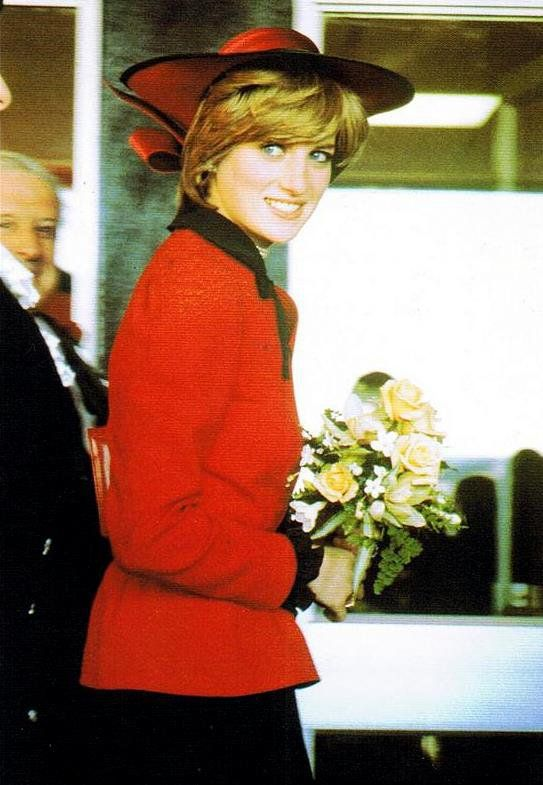 October 27, 1981: Diana, Princess of Wales on her first official Tour of Wales.