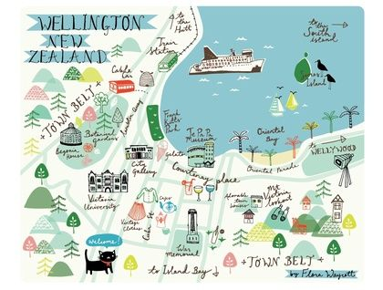 Map of Wellington print