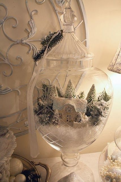 Shabby in love: Christmas under glass