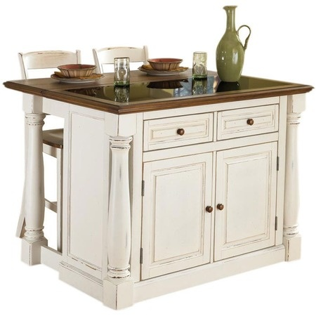 I pinned this 3 Piece Monarch Kitchen Island Set from the Kitchen & Dining Furniture event at Joss and Main!  Wonder if the Mennonite or Amish folks could build in black for me?