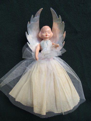vintage Christmas tree fairy