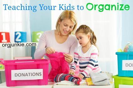 Teaching Your Kids to Organize