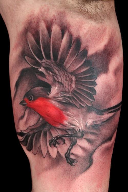 Chris Lennox - Black Garden Tattoo - London. flying bird