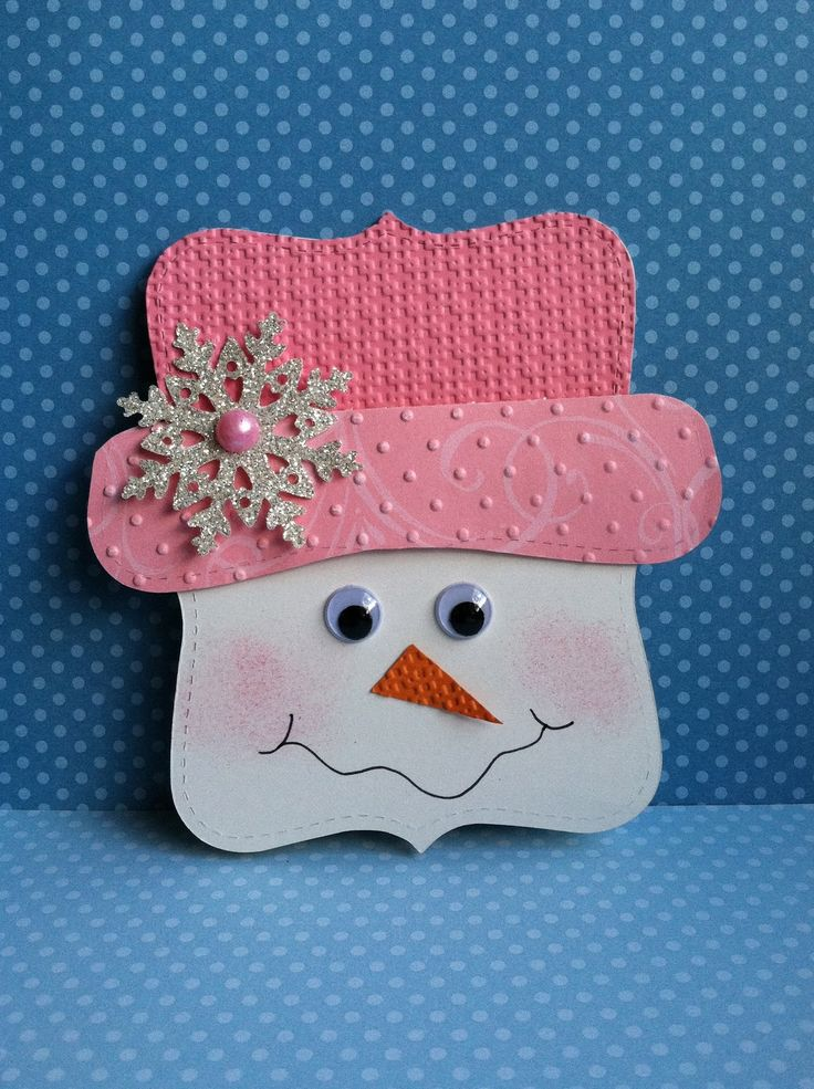 Sweet little snow-woman made with the Top Note die. Contact me for step-by-step directions.