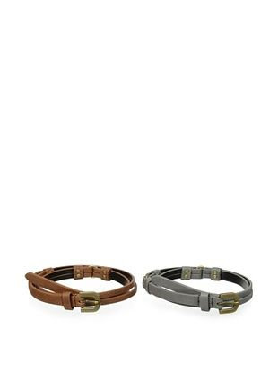 LP Blue Women's Belt Set (Brown/Grey)