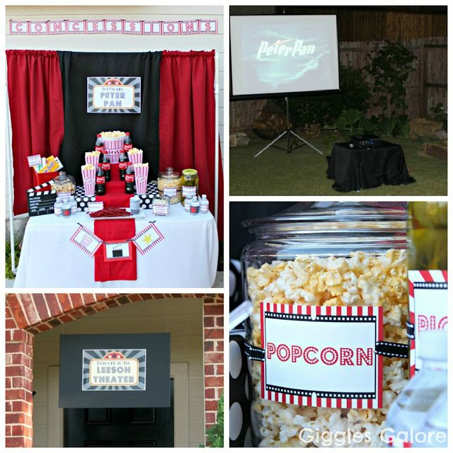 Outdoor Movie Night Party-great labels