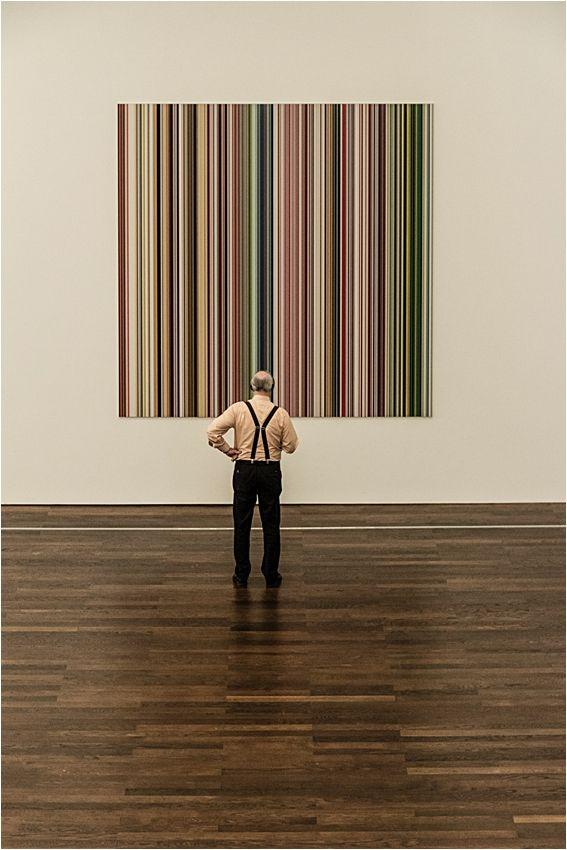 Zum abgebildeten  Bild: Strip von Gerhard Richter   Aus dem Burda Museum Baden-Baden im Nov.14