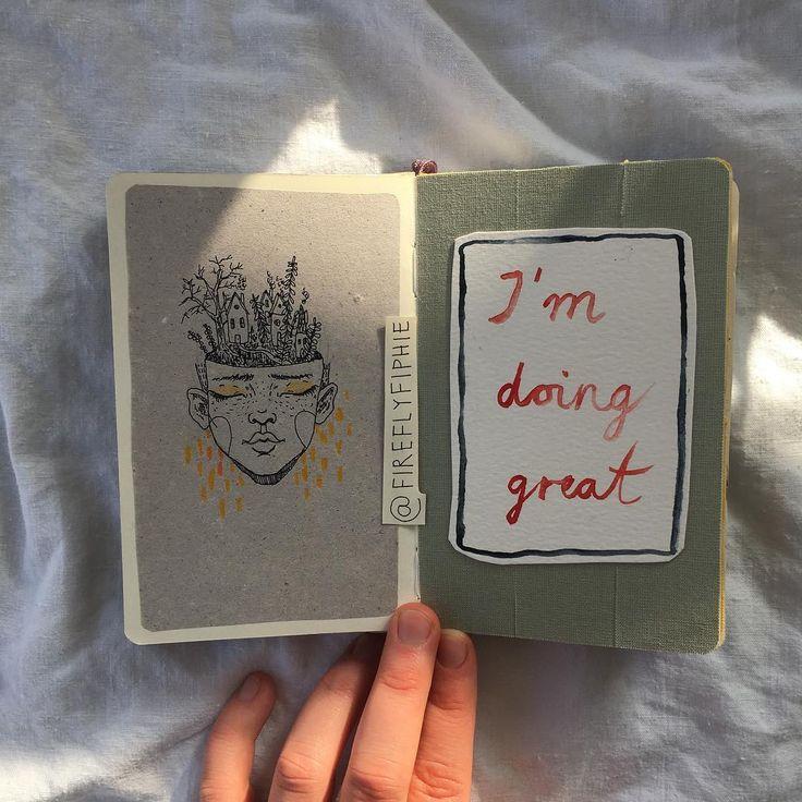 """I'm doing great #artbyfiphie Copyright Sophie Neuendorff, 2016"""