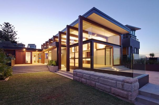 Great use of timber and a skillion roof