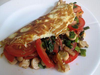 En verden af smag!: Omelet med Bacon, Parmesan og Grøntsager