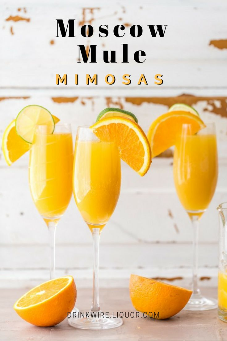 Moscow Mule Mimosas Are the Best Brunch Cocktail! Your favorite vodka drink meets your favorite bubbly drink.