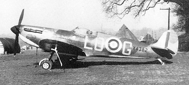 X4382 a late production Spitfire Mk I of 602 Squadron flown by P/O Osgood Hanbury Westhampnett September 1940