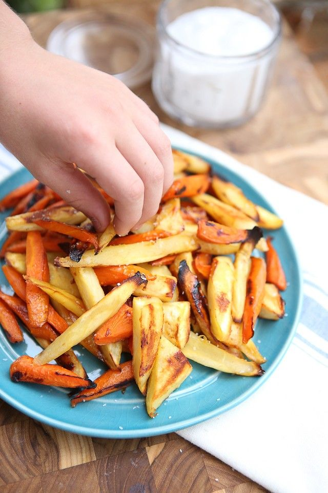 Honey Roasted Parsnips and Carrots from @aggieskitchen