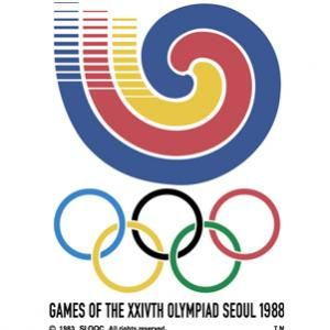 Official logo for the 1988 Olympic games in Seoul