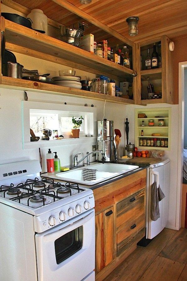 393 Best Tiny House Kitchens Images On Pinterest Little