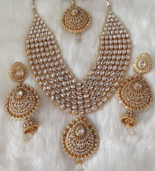 Indian Bridal Jewelry Set | Beautiful Polki Necklace Set | Stunning