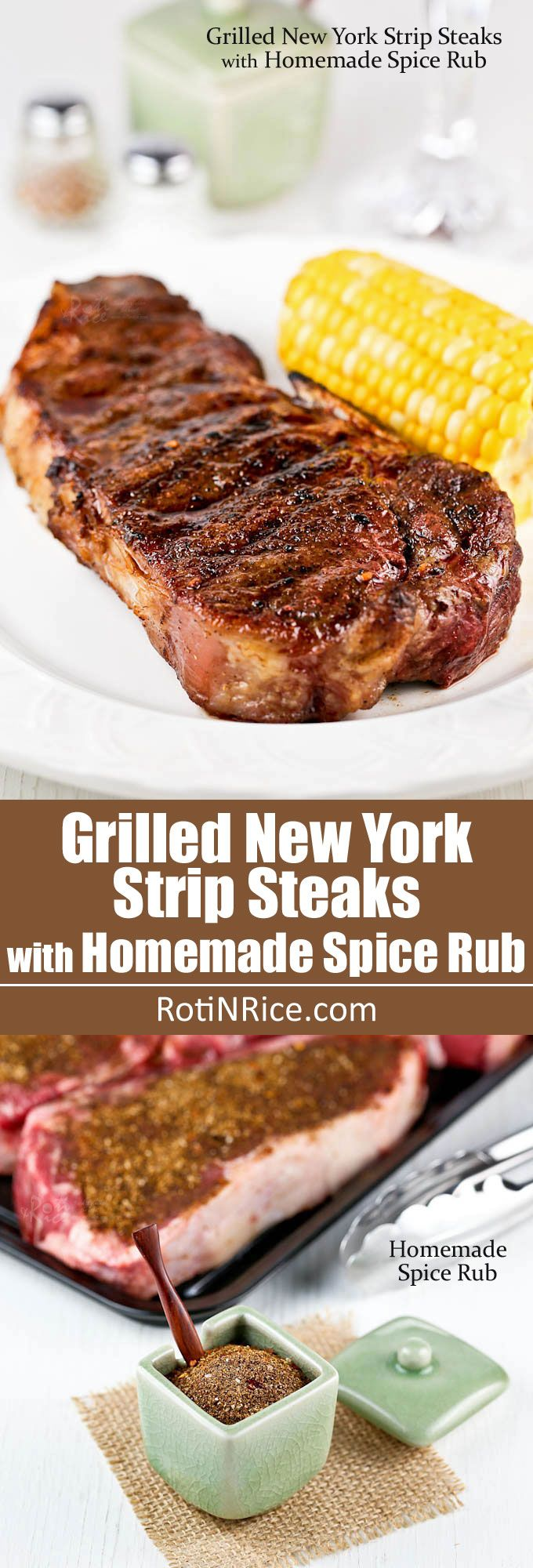 , juicy, and flavorful Grilled New York Strip Steaks with Homemade ...
