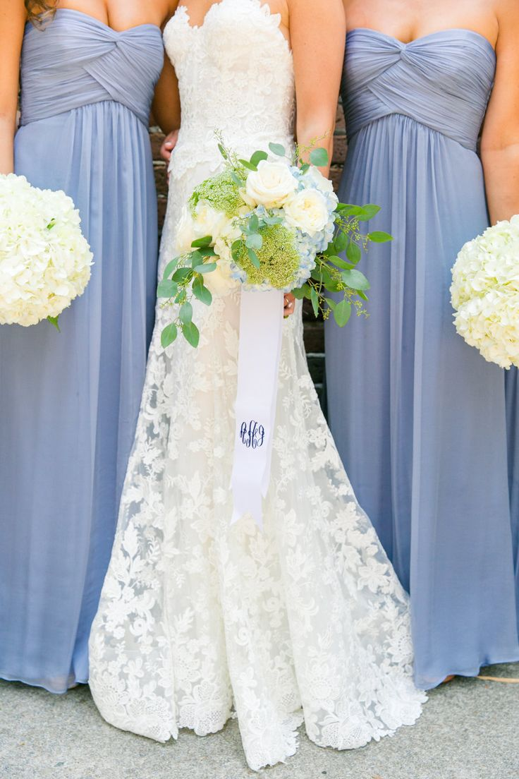 Pretty lavender bridesmaid dresses: Photography : Dana Cubbage Weddings Read More on SMP: http://www.stylemepretty.com/little-black-book-blog/2016/08/03/summer-heat-no-match-blue-white-southern-wedding/