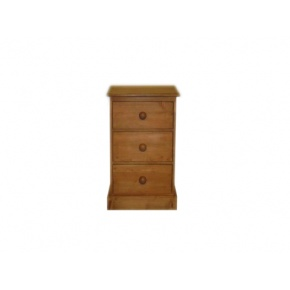 Portchester Pine Waxed 3 Drawer Wellington Chest  www.easyfurn.co.uk
