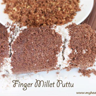 Soft Finger Millet Puttu | Ragi Puttu with Jaggery | Sweet Ragi Puttu Recipe