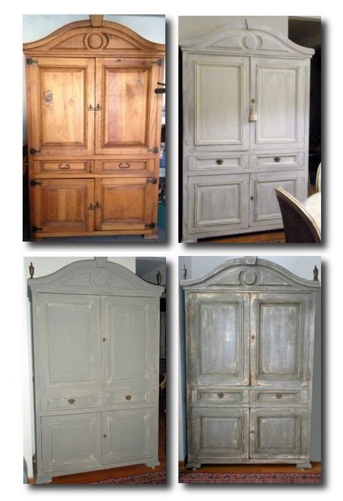 Armoire Transformation HOW TO: Paint Gustavian Finishes