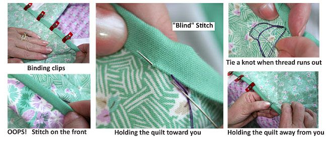 Binding Basics - Part 5: Hand-Stitching the Binding to the Back - Quilting Tutorial from ConnectingThreads.com